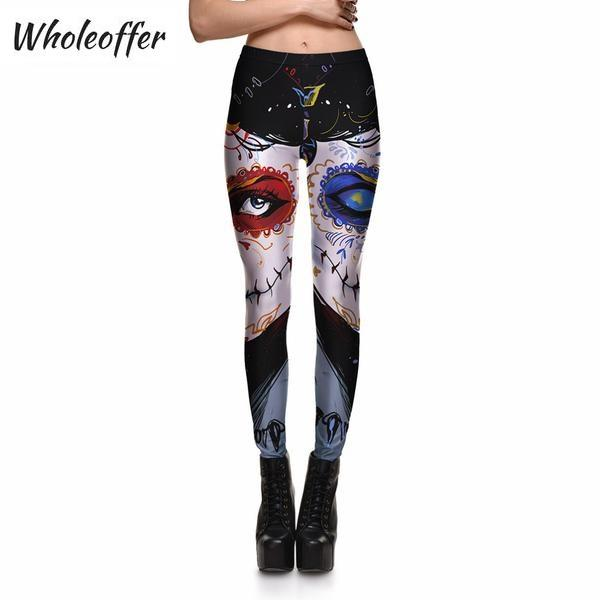 Red & Blue Mask Leggings
