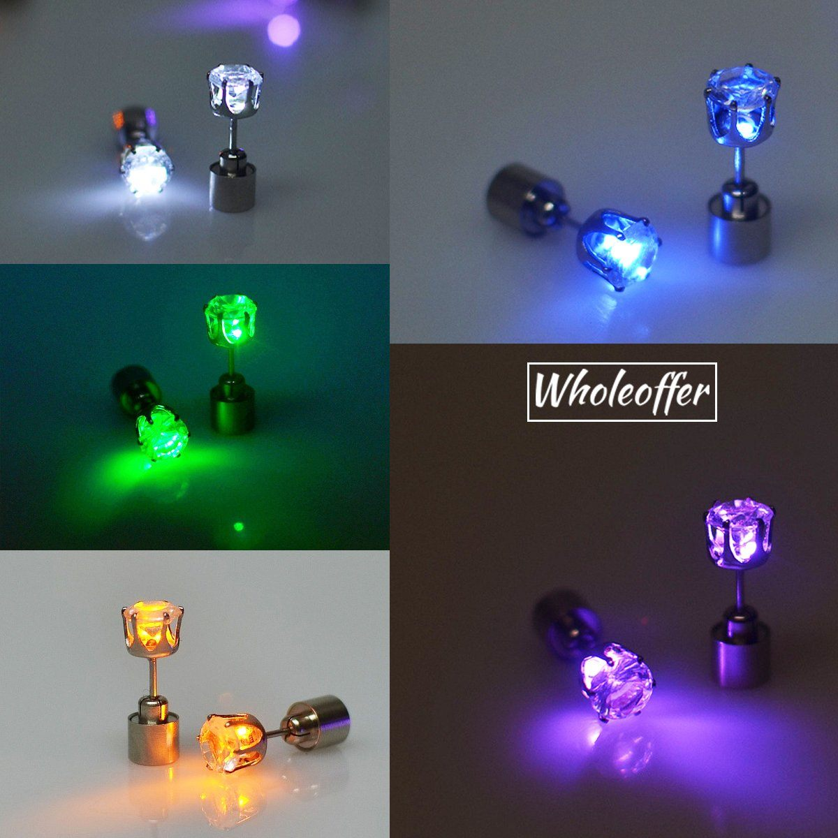 LED Rhinestone Earrings