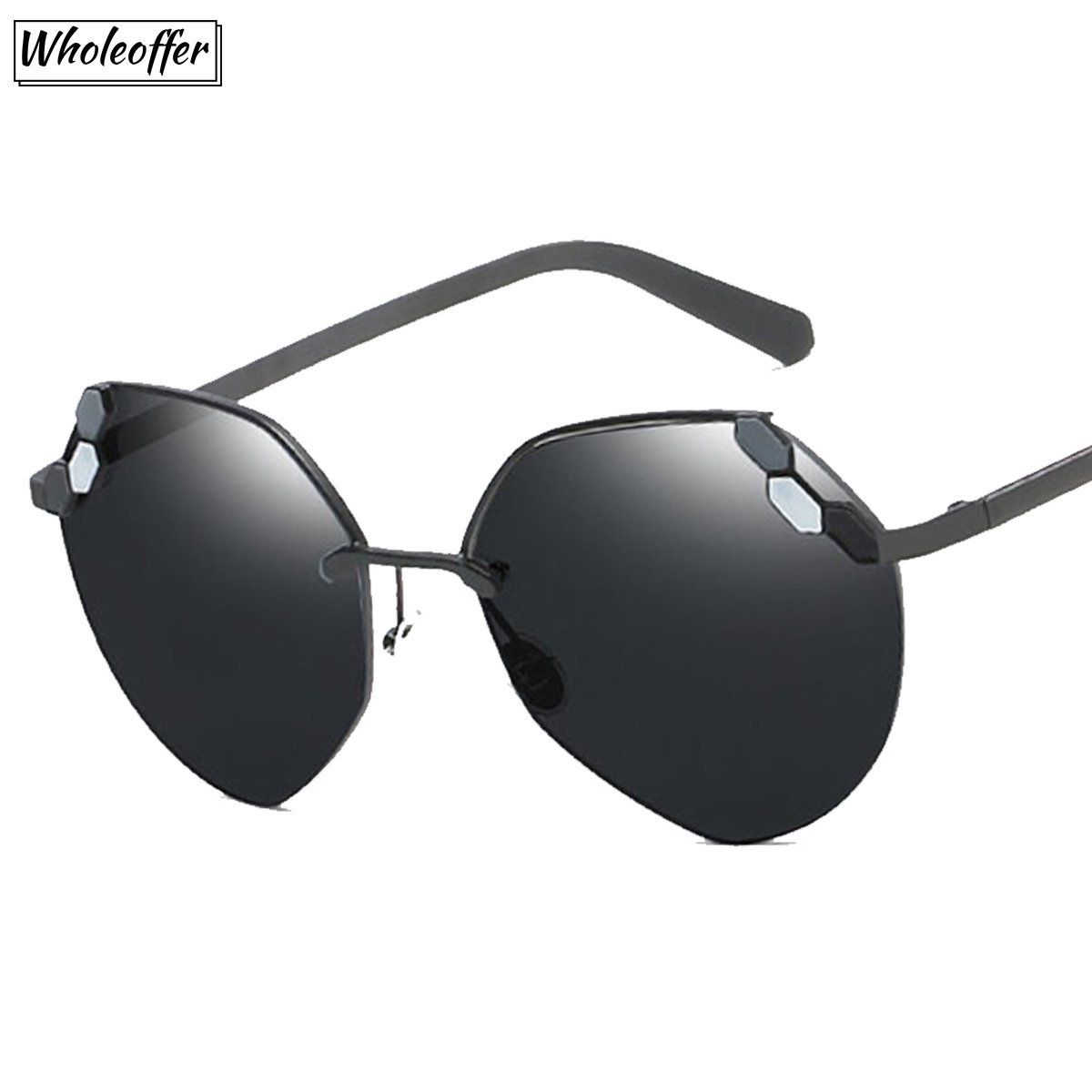 Half Frame Mirror Sunglasses for Ladies