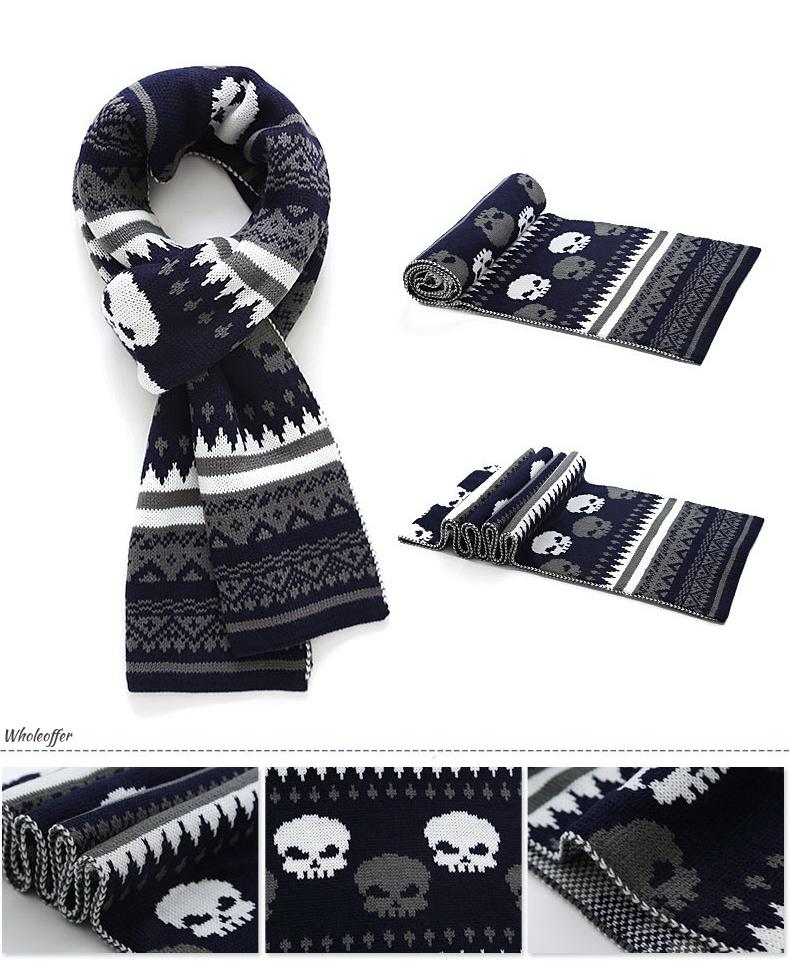 Knitted Winter Skull Scarf
