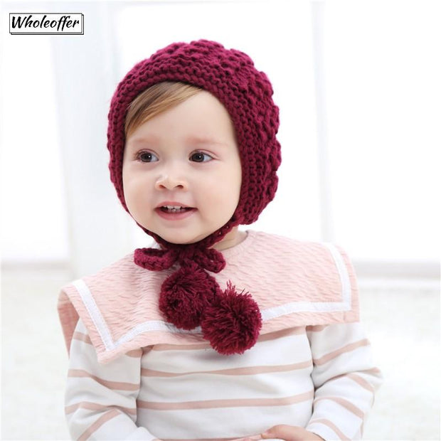 Wool Knitted Winter Beanie for Kids