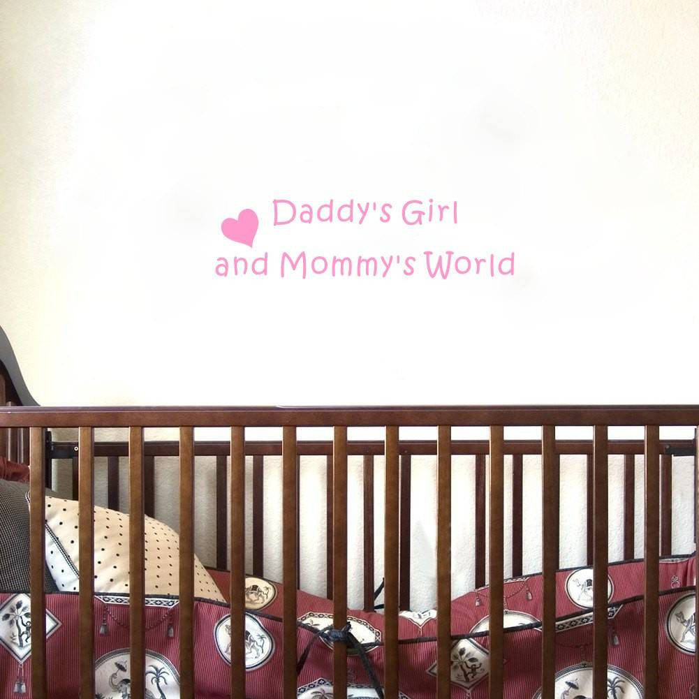 Daddy's Boy/Girl Mommy´s World Wall Decoration