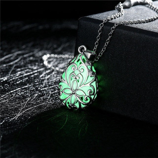 Luminous Bell Stone Necklace