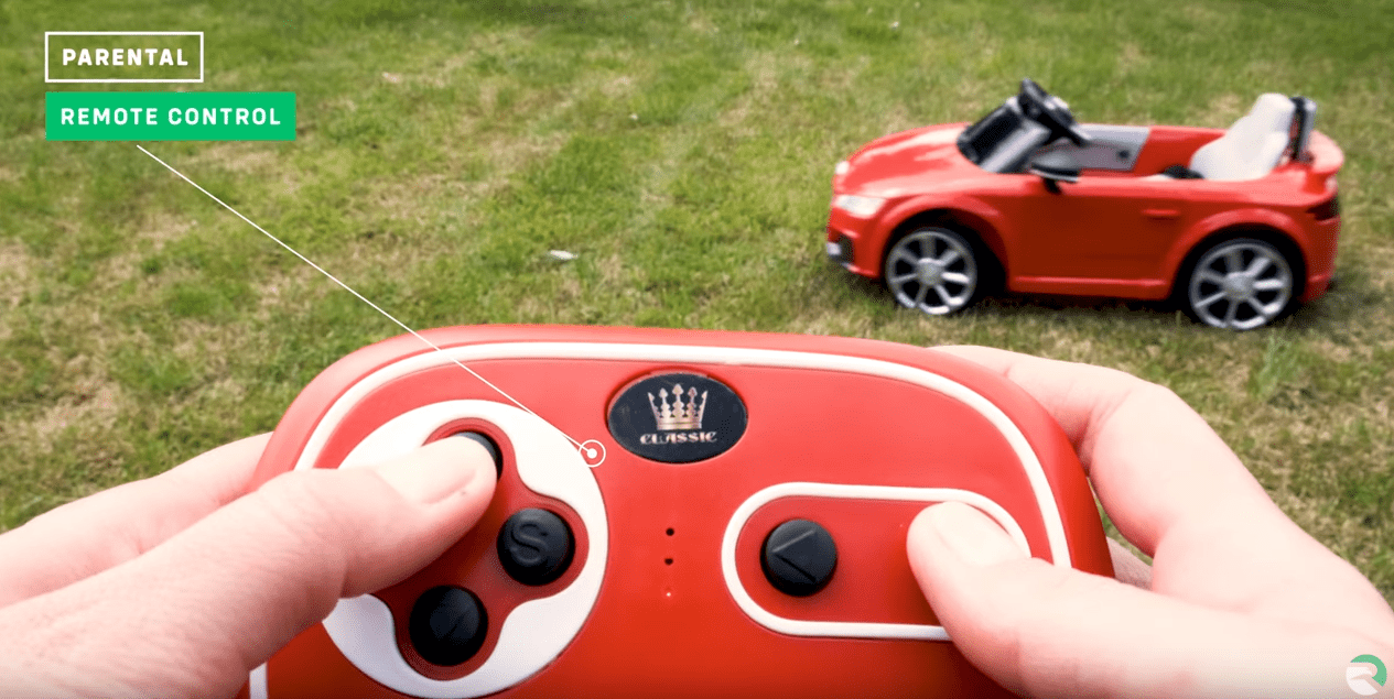 Audi TTRS 12V Ride On Car with parental remote control