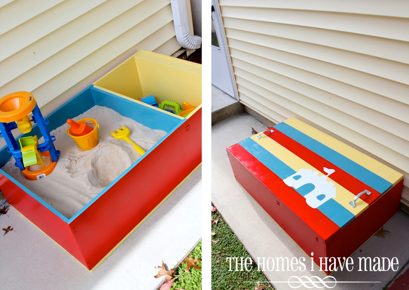 colour bookcase sandbox