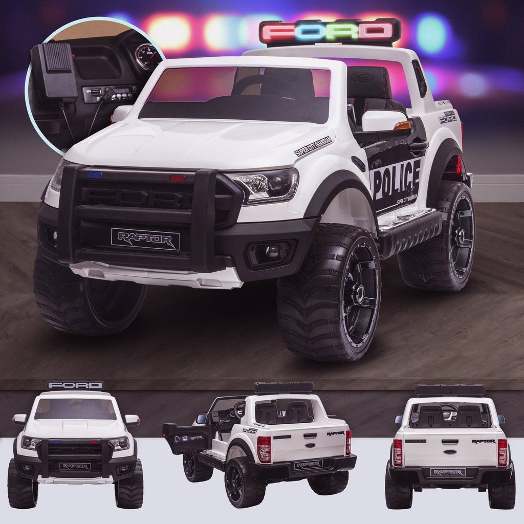 Ford Raptor F150 Wildtrak - Police Edition ride on car for kids