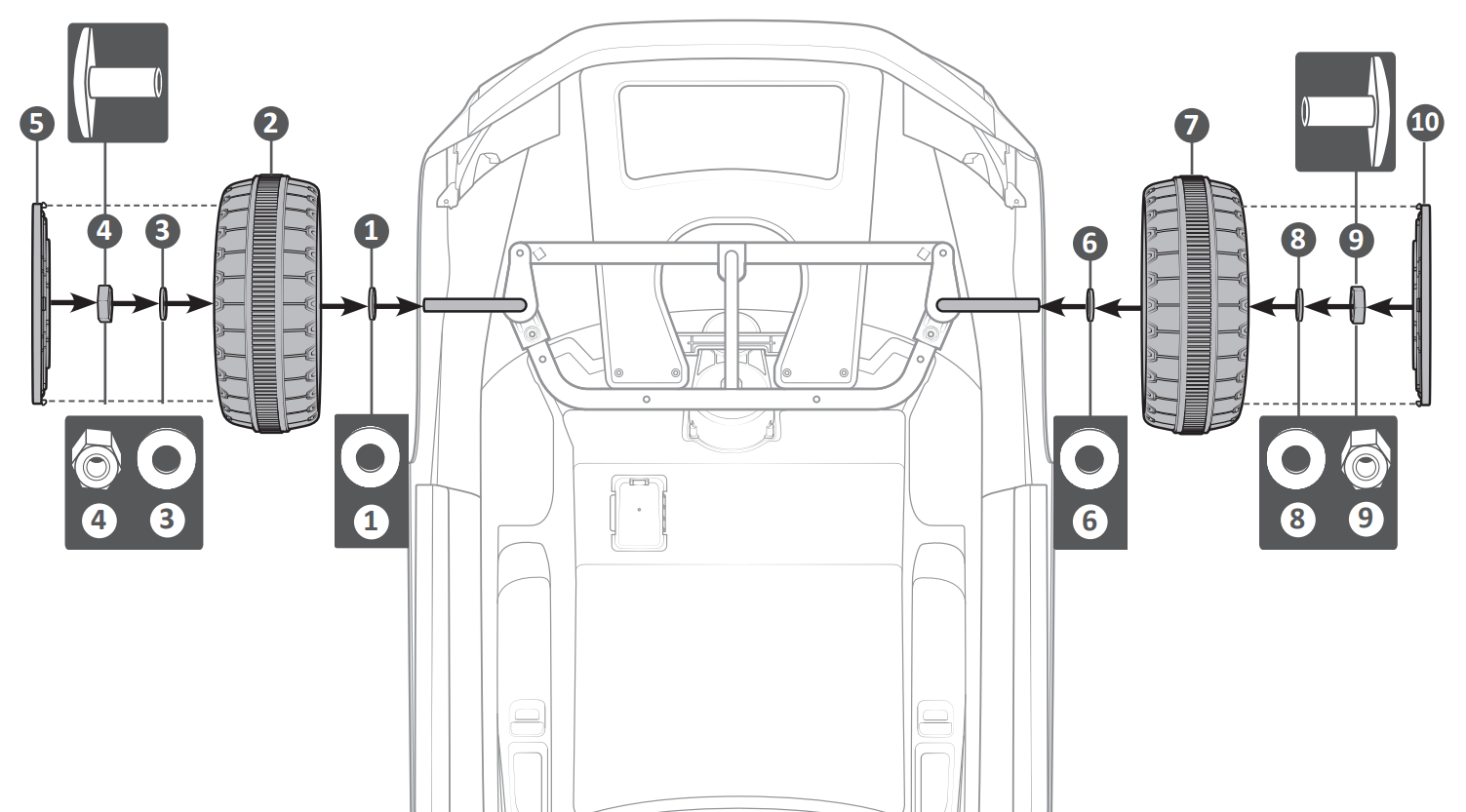 audi tt wheel assembly illustration
