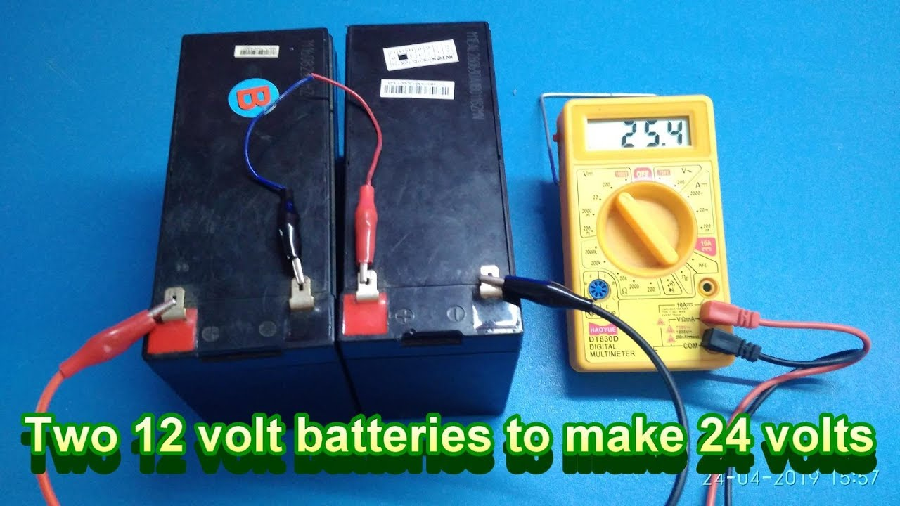 connecting ride on car batteries