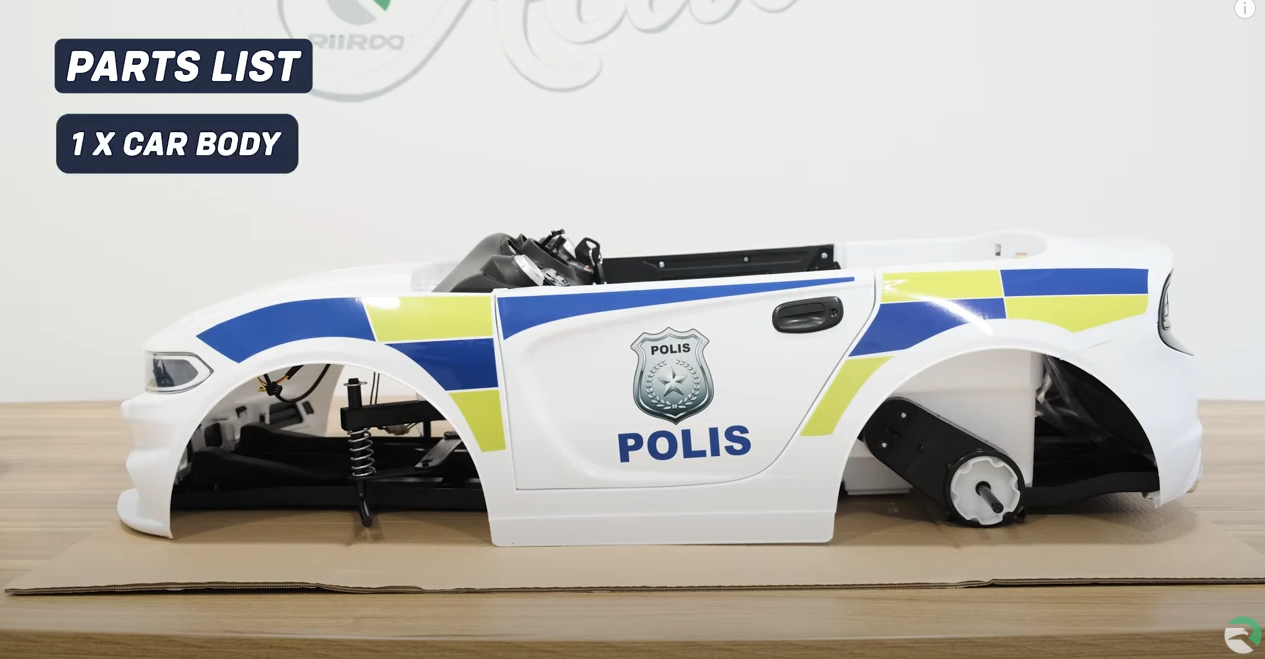 RiiRoo Police Pursuit Ride On Car Assembly & Instructions