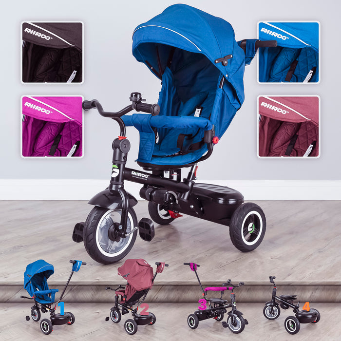 7 in 1 Tricycle/Trike with Canopy, Storage & Parental Handle
