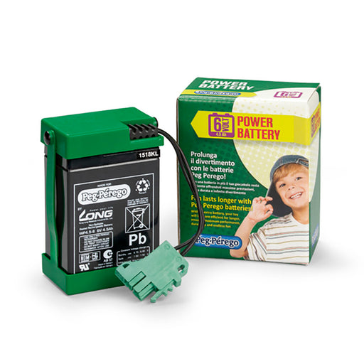 Peg Perego 6V - 4.5AH Battery  - Green