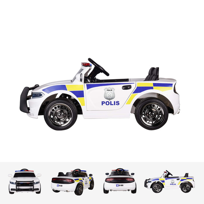 RiiRoo Police Pursuit Ride on Car side view
