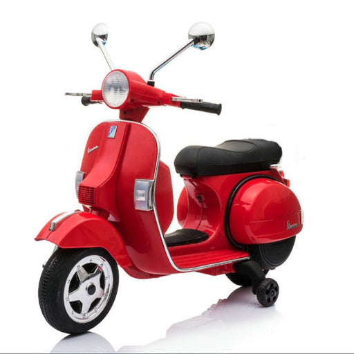 2018 hot selling vespa licensed 12v electric Red px150 6v kids ride on motorbike