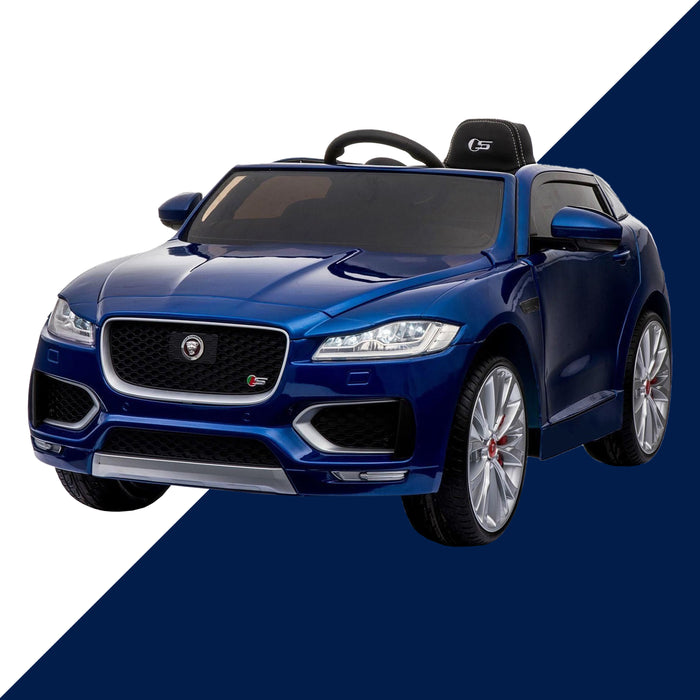 2kids jaguar f pace licensed electric battery ride on car jeep with parental remote control power wheels blue 3
