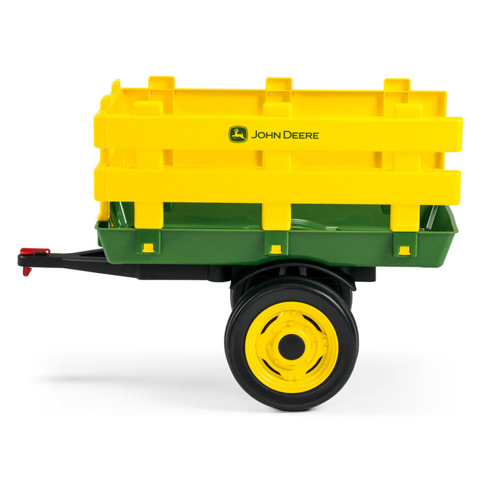 Peg Perego John Deere Stake-Side Trailer  - Green & Yellow