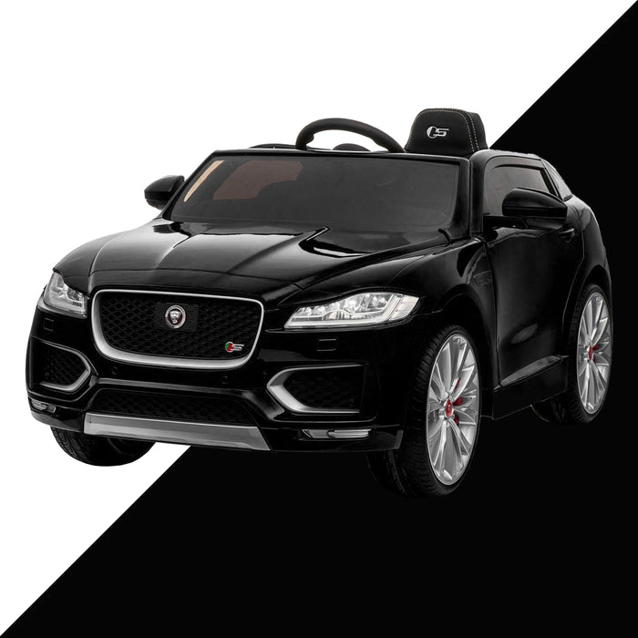 3kids jaguar f pace licensed electric battery ride on car jeep with parental remote control power wheels black 2 kids