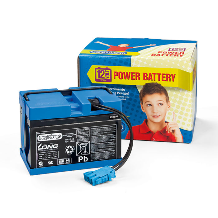 Peg Perego 12V - 12AH Battery  - Blue
