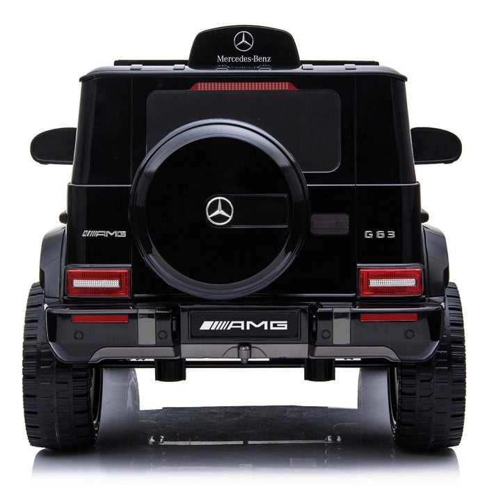 5 min mercedes g63 amg licensed ride on car in black