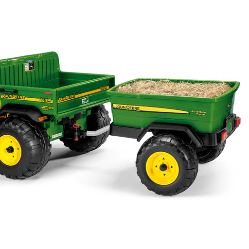 Peg Perego John Deere Adventure Trailer  - Green & Yellow