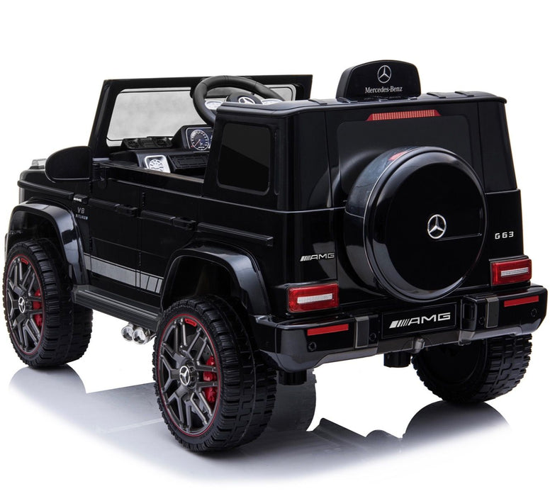 6 min mercedes g63 amg licensed ride on car in black