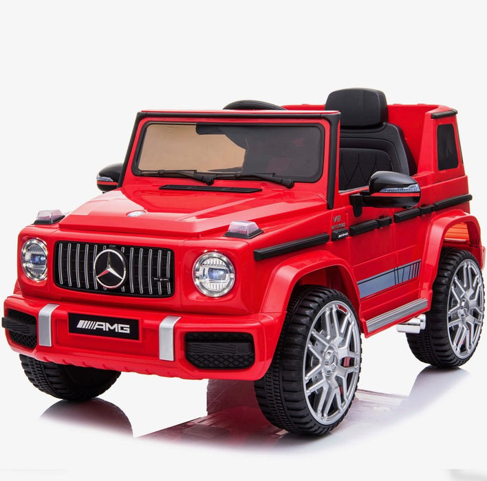602 0235 min mercedes g63 amg licensed ride on car in red