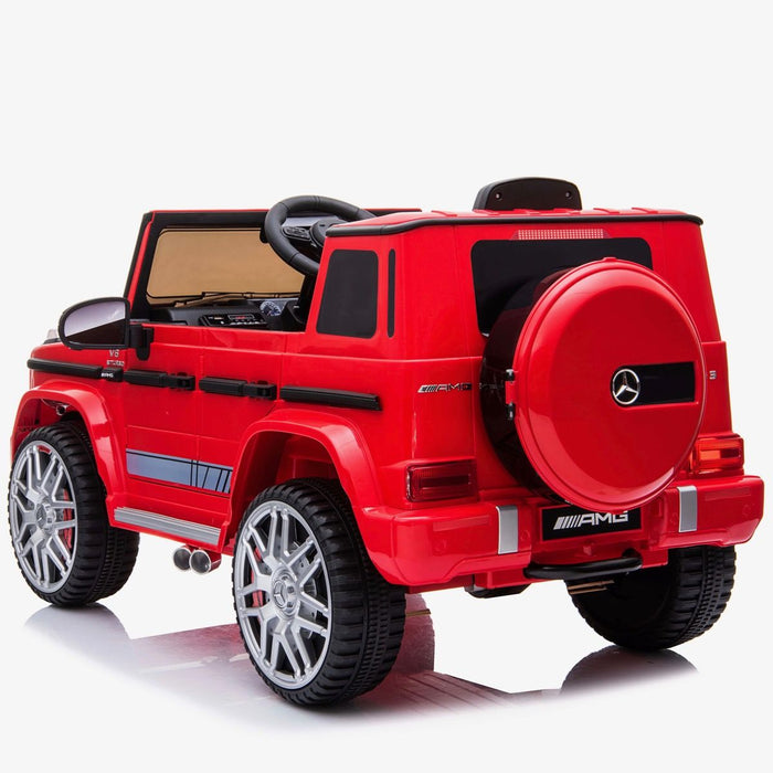602 0242 min mercedes g63 amg licensed ride on car in red