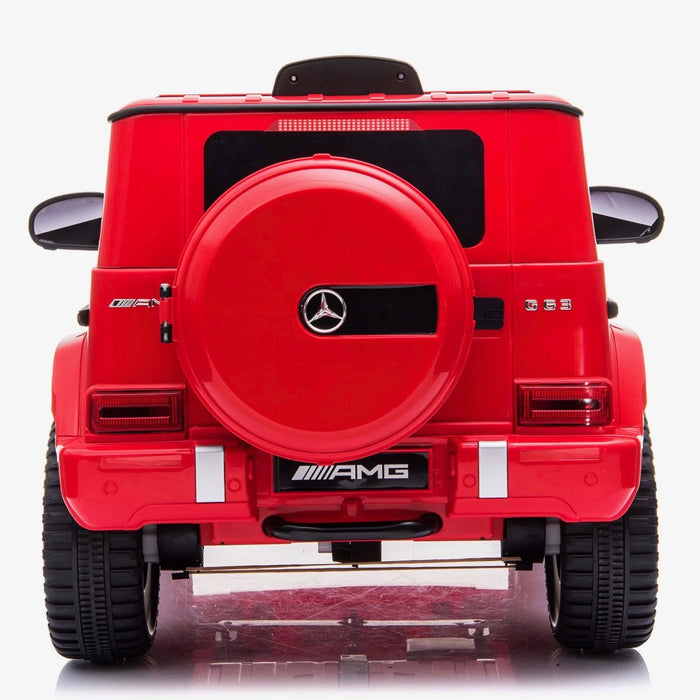 602 0246 min mercedes g63 amg licensed ride on car in red