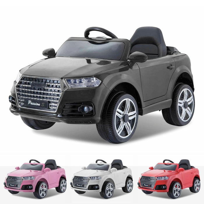 audi q7 style 12v battery electric ride on car with remote black Black kids s line style 12v electric motor battery operated ride on car