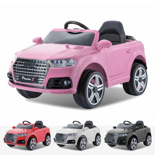 audi q7 style 12v battery electric ride on car with remote pink style ride on car in pink