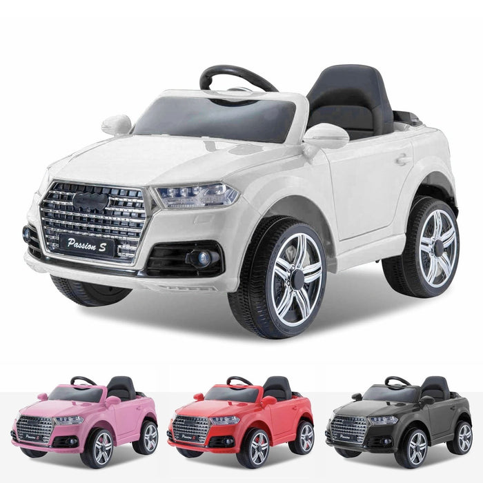 audi q7 style 12v battery electric ride on car with remote white White kids s line style 12v electric motor battery operated ride on car