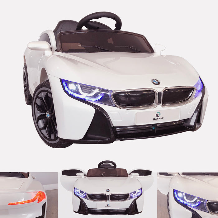 bmw style 12v kids electric ride on car with parental remote main White i8