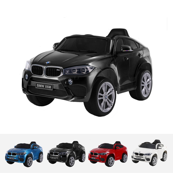 bmw x6m mini one seater jj2199 black Painted Black bmw x6m ride on car electric for kids 12v battery powered led lights music 1