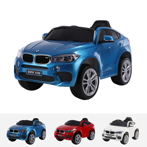 bmw x6m mini one seater jj2199 blue Painted Blue bmw x6m ride on car electric for kids 12v battery powered led lights music 1