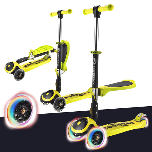 bambi three in one scooter adjustable main yellow Yellow riiroo 3 kids