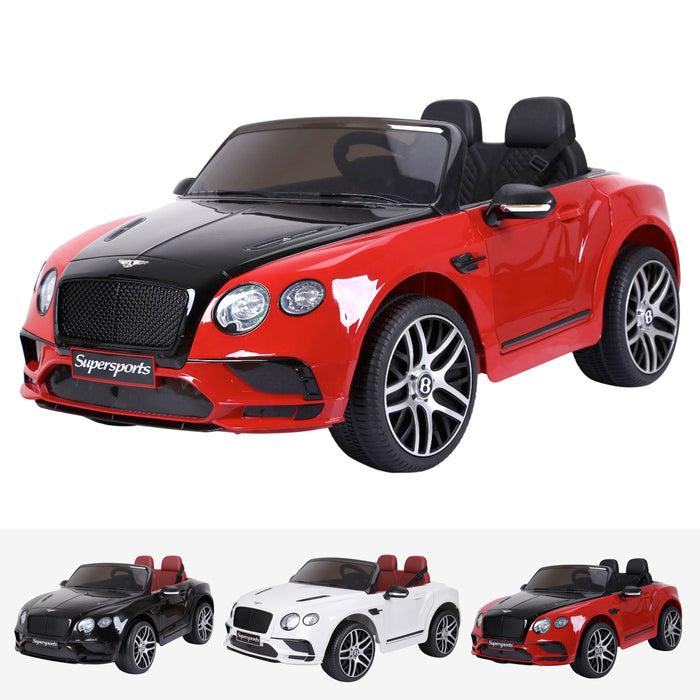 bentley continental supersport licensed 12v battery electric ride on car with remote red2 super sports ride on car 12v 2wd red black painted