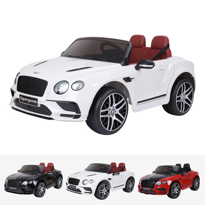 bentley continental supersport licensed 12v battery electric ride on car with remote white2 super sports ride on car 12v 2wd painted black