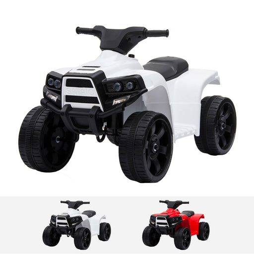 js912 mini quad white riiroo renegade rider 6v electric quad motorbike in white