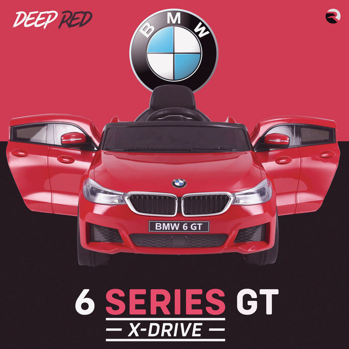 kids 12v electric bmw 6 series gt x drive 2019 battery operated kids ride on car with parental remote control front doors open red m sport licensed