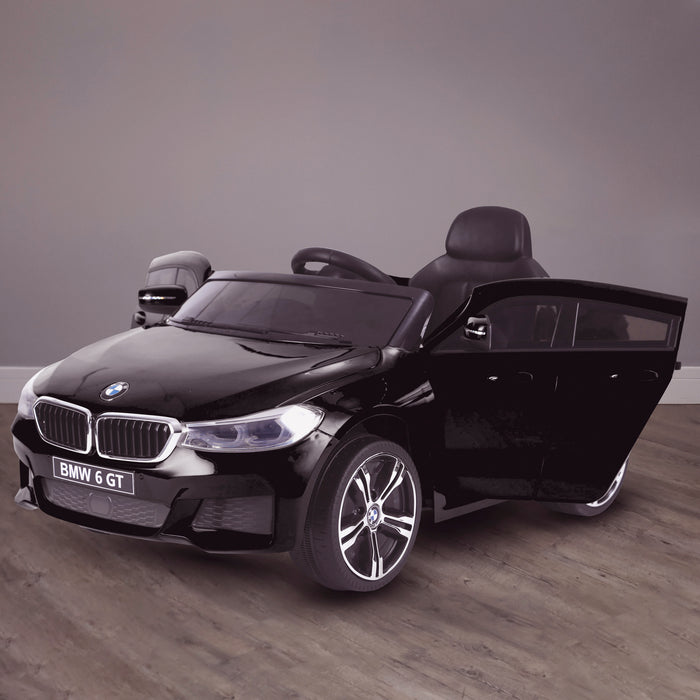 kids 12v electric bmw 6 series gt x drive 2019 battery operated kids ride on car with parental remote control hero black m sport licensed 2wd black