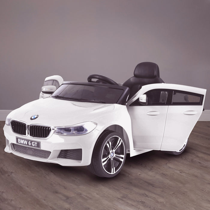 kids 12v electric bmw 6 series gt x drive 2019 battery operated kids ride on car with parental remote control hero white m sport licensed 2wd white