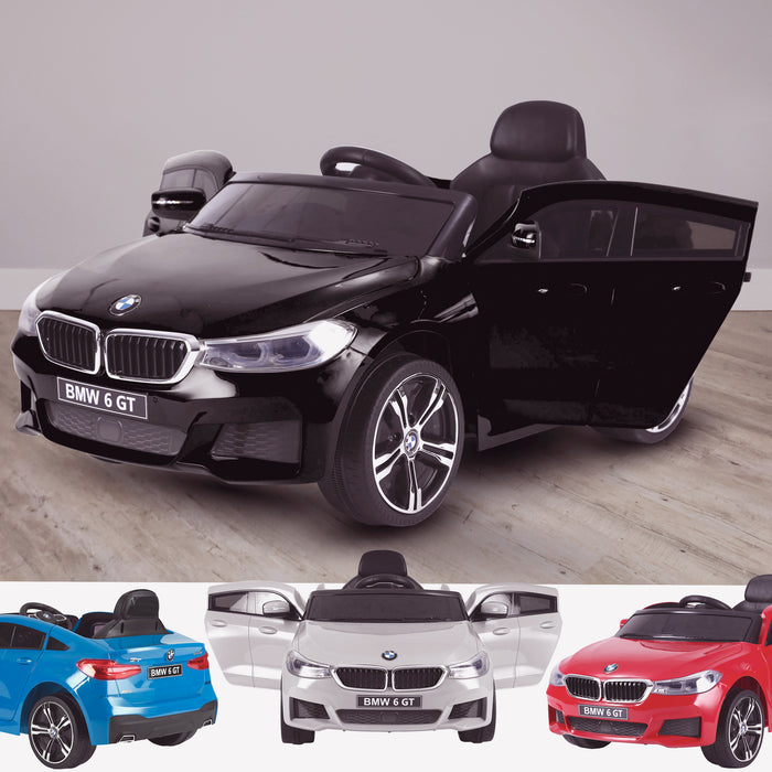 kids 12v electric bmw 6 series gt x drive 2019 battery operated kids ride on car with parental remote control main 2 black Black m sport licensed