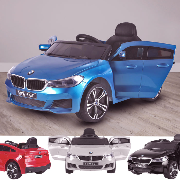 kids 12v electric bmw 6 series gt x drive 2019 battery operated kids ride on car with parental remote control main 2 blue Painted Blue m sport licensed