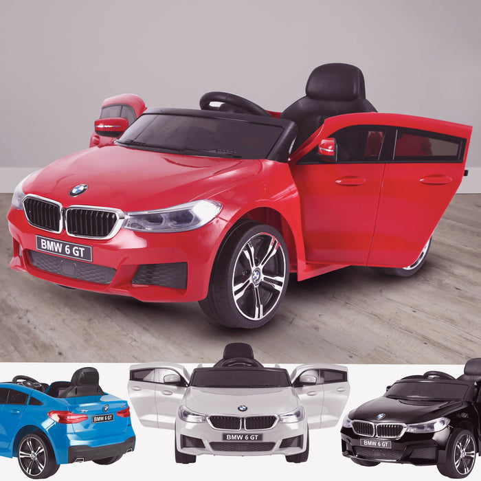 kids 12v electric bmw 6 series gt x drive 2019 battery operated kids ride on car with parental remote control main 2 red m sport licensed 2wd painted blue