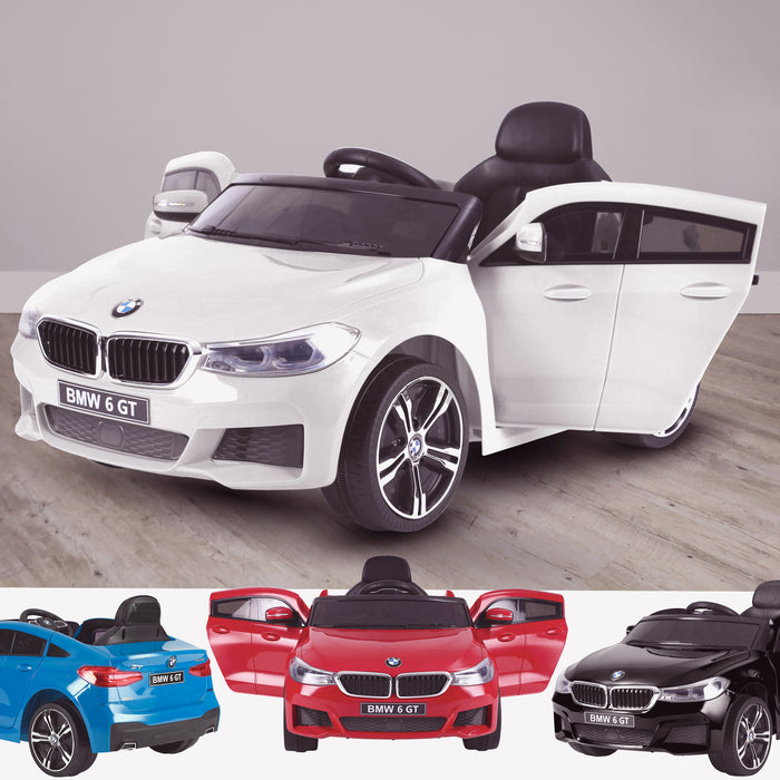 kids 12v electric bmw 6 series gt x drive 2019 battery operated kids ride on car with parental remote control main 2 white White m sport licensed
