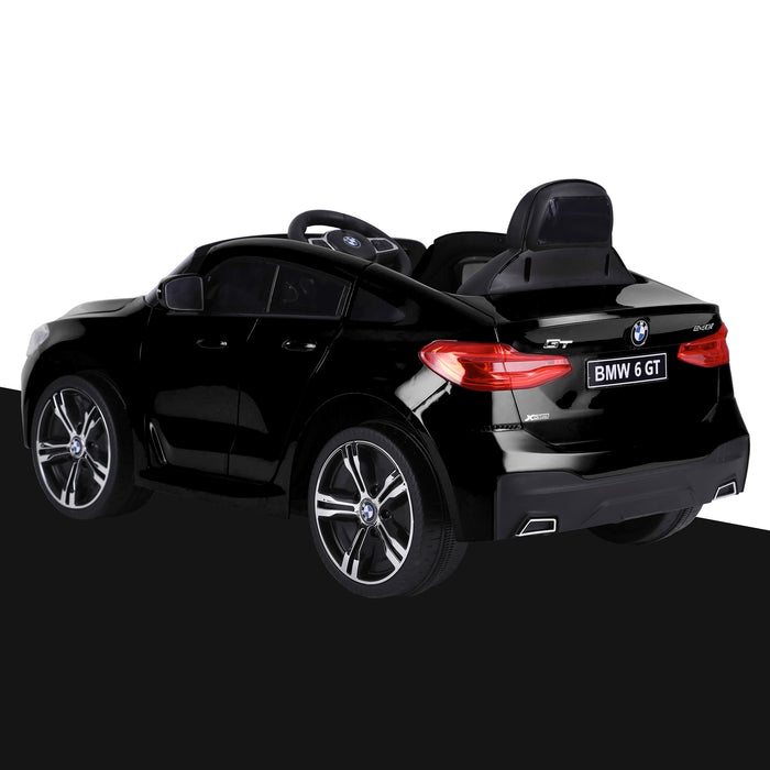 kids 12v electric bmw 6 series gt x drive 2019 battery operated kids ride on car with parental remote control rear perspective black m sport licensed 2wd black