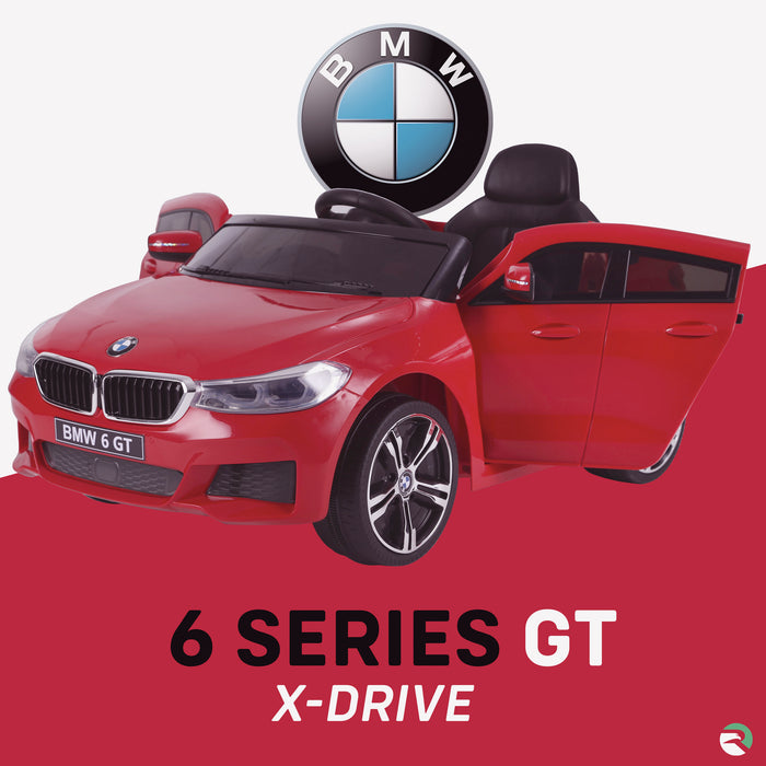 kids 12v electric bmw 6 series gt x drive 2019 battery operated kids ride on car with parental remote control red 1 m sport licensed 2wd painted blue
