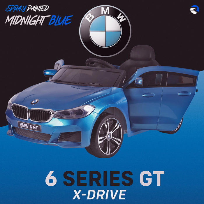 kids 12v electric bmw 6 series gt x drive 2019 battery operated kids ride on car with parental remote control spray painted blue 1 m sport licensed