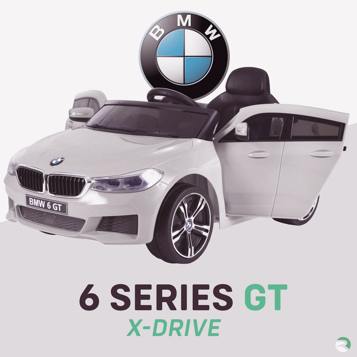 kids 12v electric bmw 6 series gt x drive 2019 battery operated kids ride on car with parental remote control white 1 m sport licensed