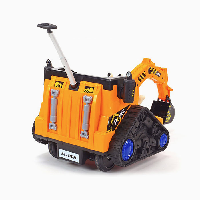 kids 12v electric battery operated digger with parental remote control 6v