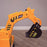 kids 12v electric battery operated digger with parental remote control fully electric controlled digger arm detail 6v